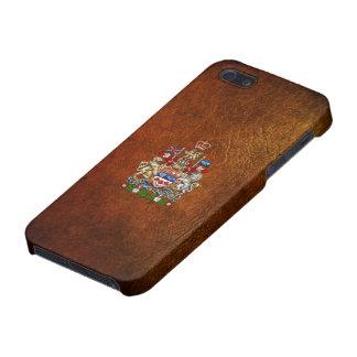 [600] Escudo de armas de Canadá [3D] iPhone 5 Funda