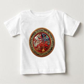 [600] Tesoros célticos - tres perros en el oro Camiseta De Bebé