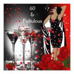 60 60.os rosas rojos fabulosos Martini de la Comunicados Personalizados