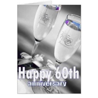 60.a celebración del champán del aniversario de tarjeta de felicitación