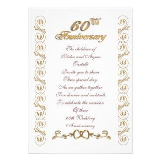 60 a fiesta de aniversario para los padres