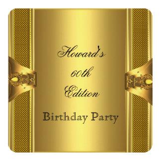 60.a fiesta de cumpleaños del libro antiguo del invitación 13,3 cm x 13,3cm