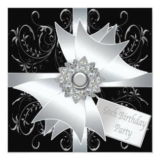 60.a fiesta del cumpleaños del diamante de la anuncios personalizados