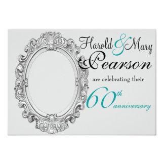 60.a invitación del aniversario de boda
