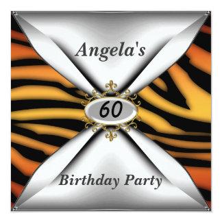 60.a invitación del cumpleaños