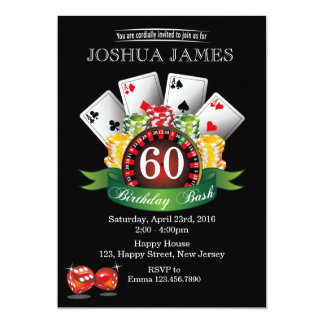 60.a invitación del cumpleaños del casino -