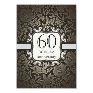 60.a invitación del vintage del damasco del