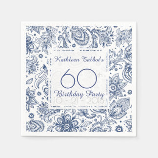 60.a servilleta de papel de la fiesta de