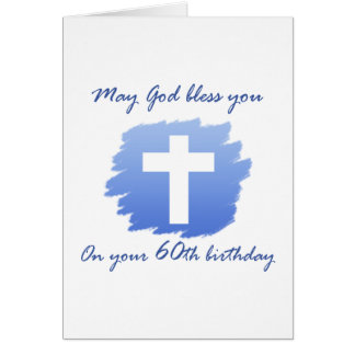 60 a tarjeta de cumpleaños del cristiano