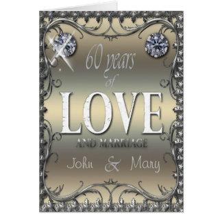 60 años de amor tarjeta de felicitación