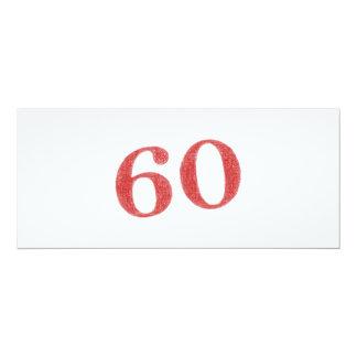 60 años de aniversario invitación 10,1 x 23,5 cm