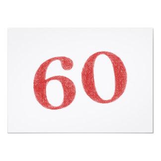 60 años de aniversario invitación 11,4 x 15,8 cm