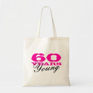 60 años de bolsa de asas joven para la 60.a fiesta