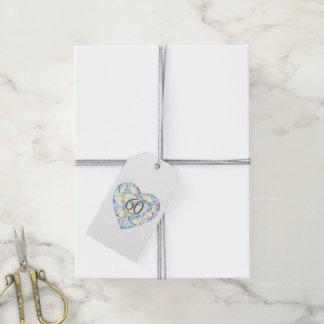 60 años del diamante del corazón de la acuarela etiquetas para regalos