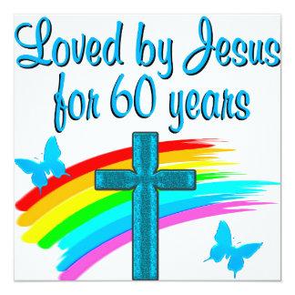 60 AÑOS RELIGIOSOS INVITACIÓN 13,3 CM X 13,3CM