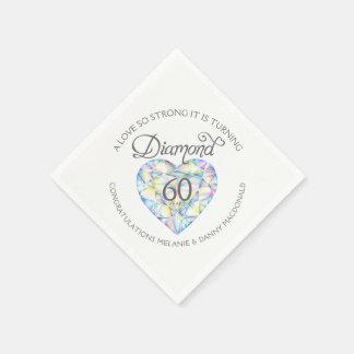 60.as servilletas del nombre del arte del corazón servilleta de papel