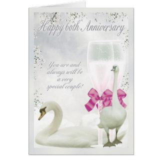 60.o aniversario - aniversario del diamante tarjeta de felicitación