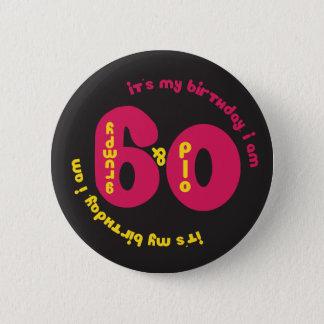 60.o Botón del cumpleaños - viejo y gruñón