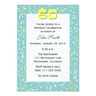 60.o Confeti de la invitación del cumpleaños