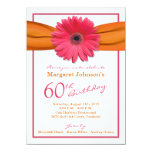 60.o cumpleaños del Gerbera de la cinta anaranjada Anuncio