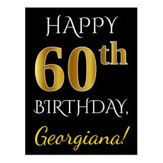 60.o cumpleaños del oro negro, falso + Nombre de Postal