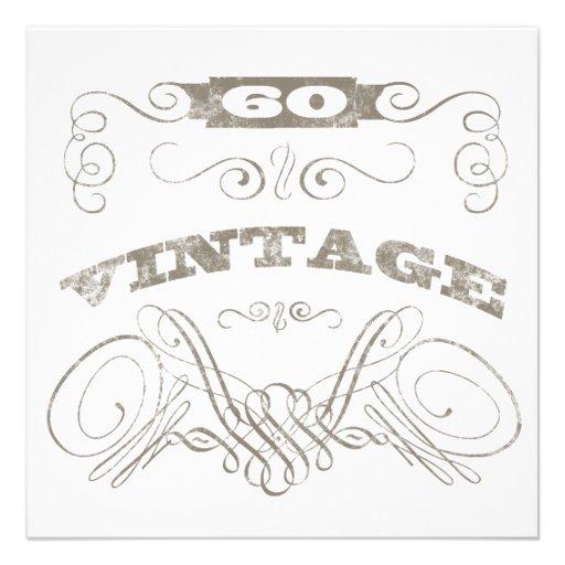 60.o cumpleaños del vintage anuncios personalizados