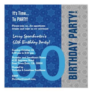 60.o Cumpleaños divertido NO sobre la colina Z60D Invitación 13,3 Cm X 13,3cm
