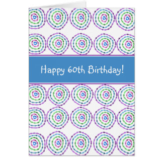 ¡60.o cumpleaños feliz! Tarjeta