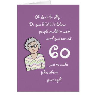 60.o Cumpleaños para la tarjeta Ella-Divertida