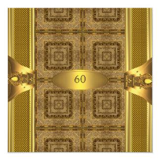 60.o hombre para hombre del libro 2 del oro de la invitación 13,3 cm x 13,3cm