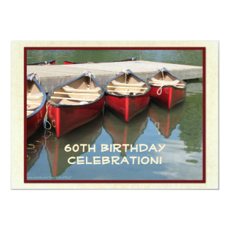60.o Invitación de la celebración del cumpleaños,