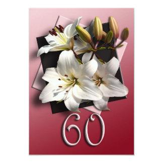 60.o Invitación de la fiesta de cumpleaños -