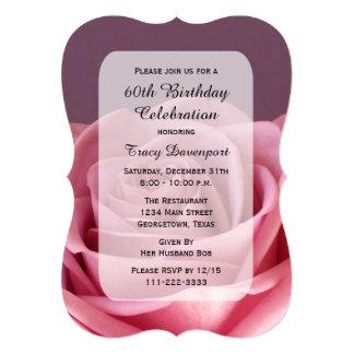 60.o Invitación de la fiesta de cumpleaños con Invitación 12,7 X 17,8 Cm