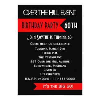 60.o Invitación de la fiesta de cumpleaños sobre