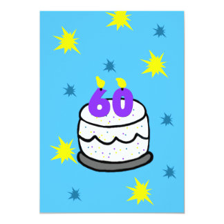 60.o Invitación de la fiesta de cumpleaños torta