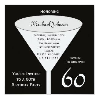 60.o Invitación de la fiesta de cumpleaños una