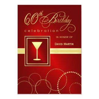 60.o Invitaciones de la fiesta de cumpleaños - Invitación 12,7 X 17,8 Cm