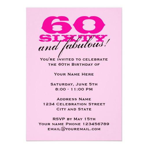 60.o Invitaciones de la fiesta de cumpleaños para  Comunicados
