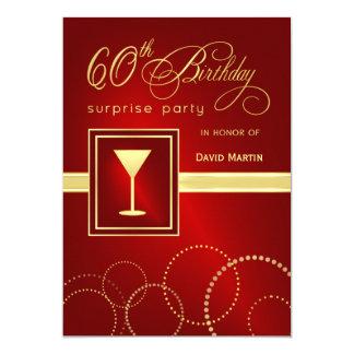 60.o Invitaciones del fiesta de sorpresa del Invitación 12,7 X 17,8 Cm