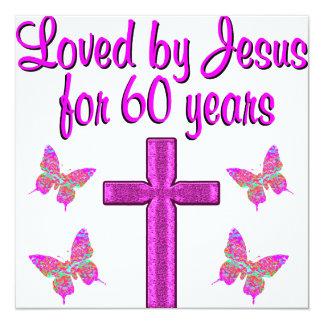 60.o JESÚS de AMOR Invitación 13,3 Cm X 13,3cm