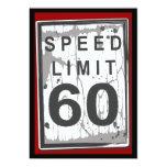 60.o Muestra sucia del límite de velocidad de la Comunicado Personalizado