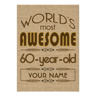 60 o Mundo de la celebración del cumpleaños mejor Comunicados Personales