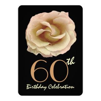 60.o oro grande de la fiesta de cumpleaños de invitación 12,7 x 17,8 cm