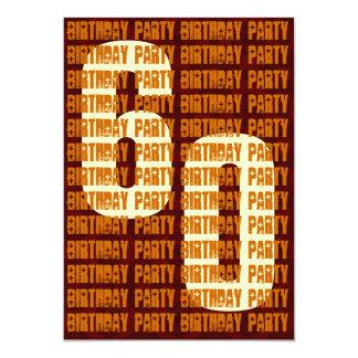 60.o oro y Brown W1048 del cumpleaños del Grunge Invitación 12,7 X 17,8 Cm
