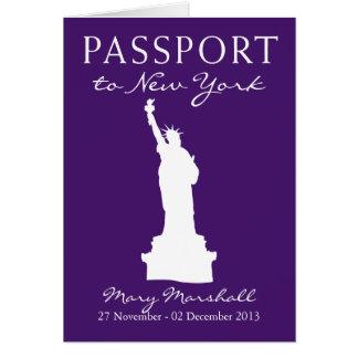 60.o pasaporte del cumpleaños de New York City Tarjeta