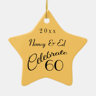 60.o Regalo de la estrella del aniversario Ornamento Para Reyes Magos