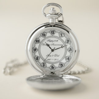 60.o Reloj de bolsillo del aniversario de boda