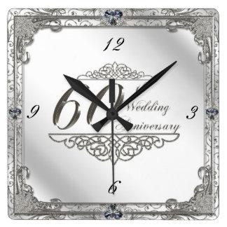 60.o reloj feliz del aniversario de boda