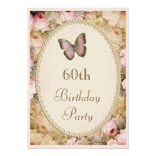 60.o Rosas mariposa, notas del vintage del cumplea Comunicados