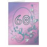 60.o Tarjeta de cumpleaños con las estrellas del d